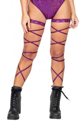 Purple Holo Iridescent Leg Wraps