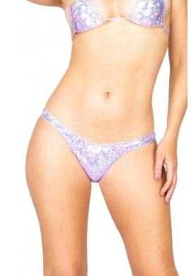 Lavender Iridescent T-Back Bottoms