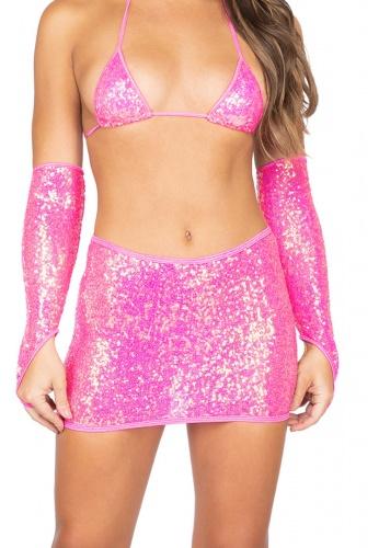 Hot Pink Sequin Skirt