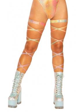 Gold Kandi Leg Wraps
