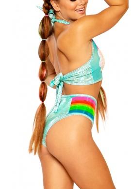 Rainbow Cloud Mesh Shorts