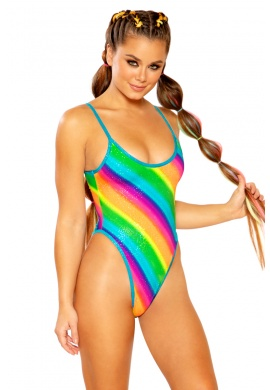 Diagonal Sparkle Rainbow Bodysuit