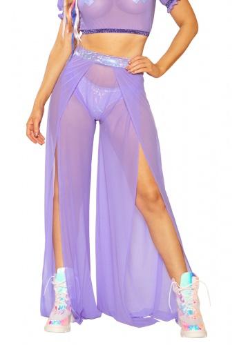 Lavender Mesh Gypsy Pants
