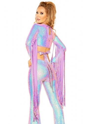 Lavender Dream Sequin Karma Fringe Top