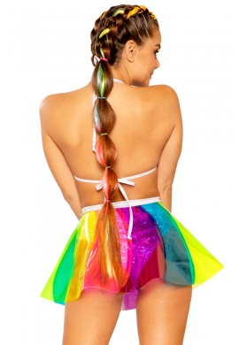 Beach Ball Rainbow Vinyl Skirt