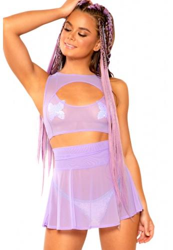 Lavender Mesh Skirt