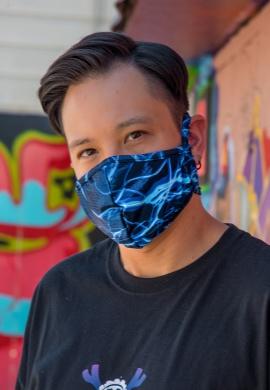 Blue Lightning Mask with Filter