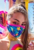 Tie Dye Face Mask with Filter