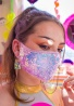 Pearly Pink Sequin Tailored Mask