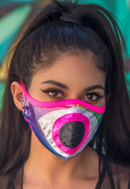 Metallic Rainbow Eyeball Tailored Mask