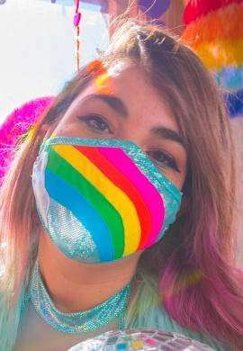 Metallic Rainbow Cloud Mask