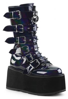 Black Hologram Damned-225 Boots