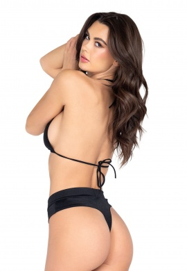 Black Thong Back Shorts