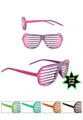 Glow In The Dark Bling Shutter Shades