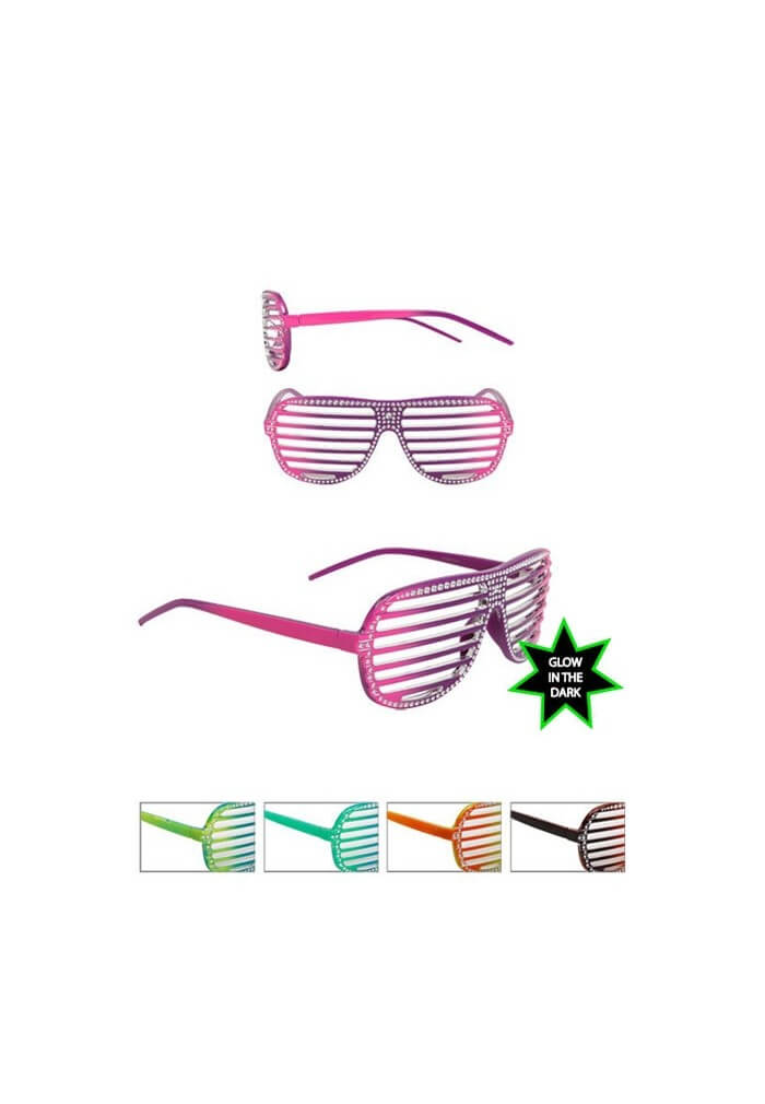 Glow In The Dark Bling Shutter Shades Raveready