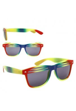 Rainbow Wayfarer Shutter Shades