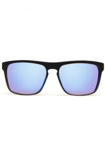 Flat Black Bridge Blue Mirror Diffraction Glasses
