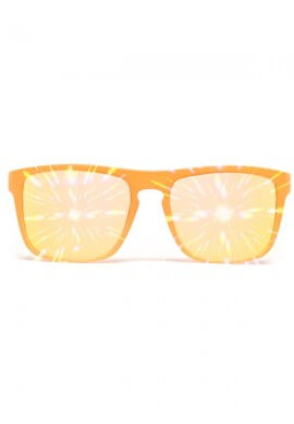 Flat Orange Bridge Mirror Diffraction Glasses