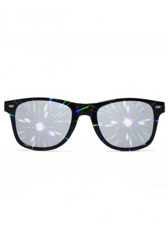 Black Wayfarer Diffraction Glasses