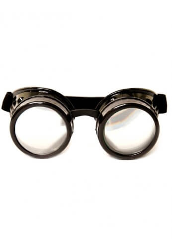 Black Diffraction Goggles