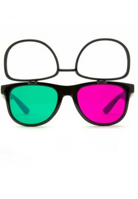 Black Flip 3Diffraction Glasses