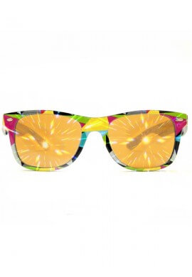 Geometric Wayfarer Diffraction Glasses