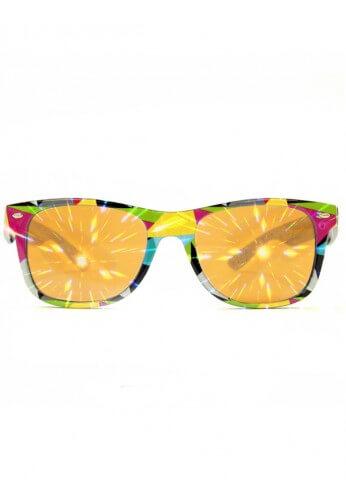 Geometric Wayfarer Diffraction Glasses
