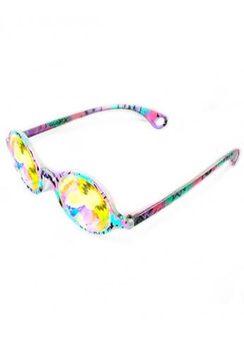 Aztec Rainbow Wormhole Kaleidoscope Glasses