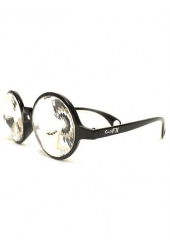 Black Wormhole Kaleidoscope Glasses