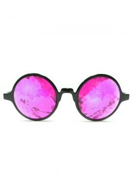 Magenta Kaleidoscope Glasses