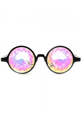 Black Rainbow Kaleidoscope Glasses