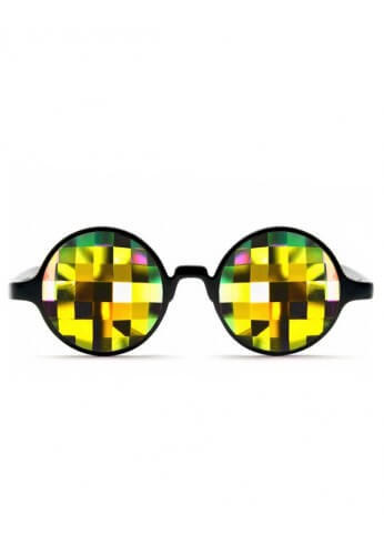 Black Rainbow Bug Kaleidoscope Glasses