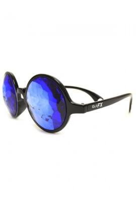 Black Sapphire Kaleidoscope Glasses