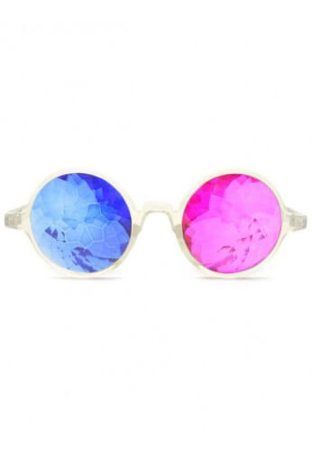 Clear 3D Kaleidoscope Glasses