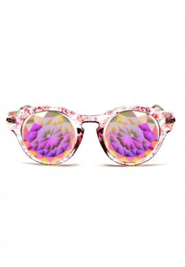 Floral Cat Eye Kaleidoscope Glasses