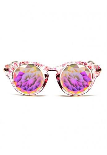 Floral Cat Eye Kaleidoscope Glasses