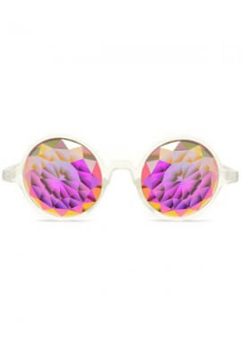 Clear Fractal Kaleidoscope Glasses