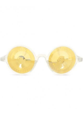 Clear Gold Wormhole Kaleidoscope Glasses