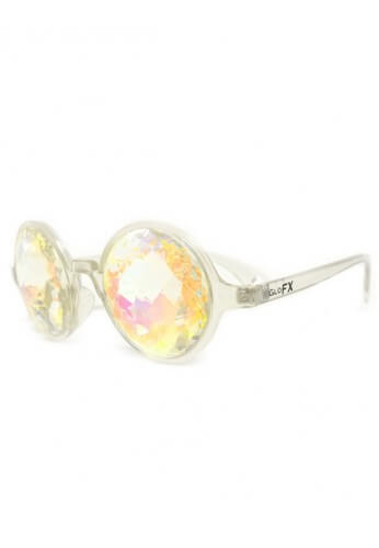Clear Rainbow Kaleidoscope Glasses