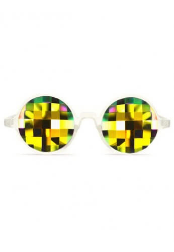 Clear Rainbow Bug Kaleidoscope Glasses
