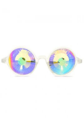 Clear Rainbow Wormhole Kaleidoscope Glasses