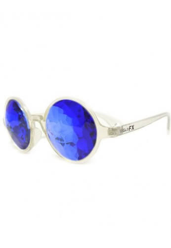 Clear Sapphire Kaleidoscope Glasses