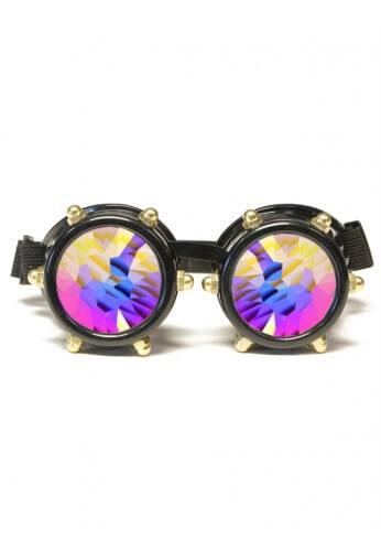 Black Bolt Kaleidoscope Goggles