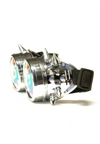 Chrome Spike Kaleidoscope Goggles