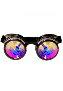 Black Kaleidoscope Goggles