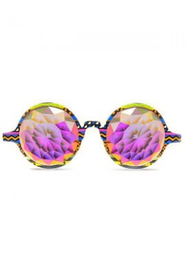 Tribal Fractal Kaleidoscope Glasses