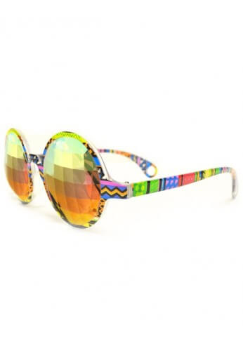 Tribal Rainbow Bug Kaleidoscope Glasses
