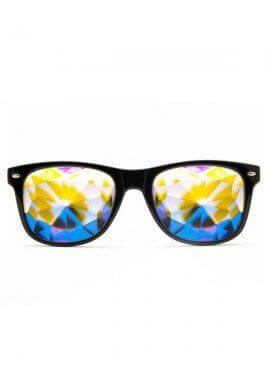 Black Wayfarer Kaleidoscope Glasses