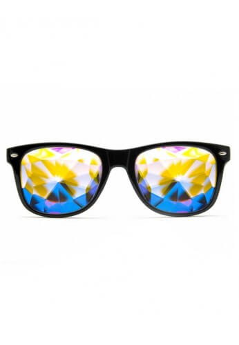 Black Wayfarer Kaleidoscope Glasses