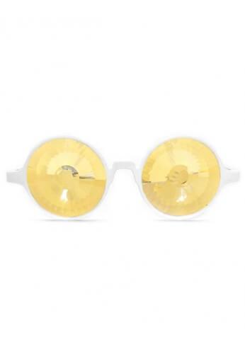 White Gold Wormhole Kaleidoscope Glasses